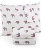 Martha Stewart WHIM Collection 100% Cotton Sheet Set Lucky Elephants