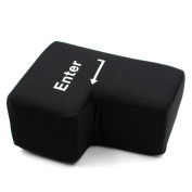 TeeNoke BIG ENTER PILLOW, Stress Relief Vent Tools, Supersized USB Big Enter Key Office Desktop Nap Pillows