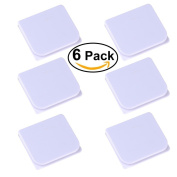 Shower Splash Clips (6 Pack),LGDehome Self-adhesive Anti-Splash Shower Curtain Clips Stop Water Leaking