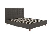 DHP Emily Upholstered Bed, Grey Linen - Queen
