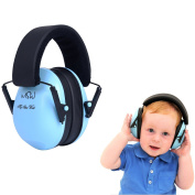 Baby Hearing Protection Ear Muffs for 6 months to 12 years old - Comfortable Noise Reduction and Ear Protection for your Infant Toddler and Child, Blue