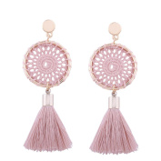 SetMei Fashion Vintage Women Boho Bohemian Earrings Long Tassel Fringe Dangle Earrings