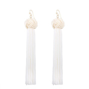 SetMei Women Vintage Bohemian Fashion Weave Tassel Earrings Long Drop Earrings Jewellery