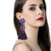 SetMei Fashion Bohemian Earrings Women Long Tassel Fringe Dangle Earrings Jewellery