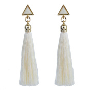SetMei Bohemian Women Ethnic Hanging Rope Tassel Earrings