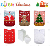 LilBit Holiday Prints Reusable Pocket Baby Cloth Nappies