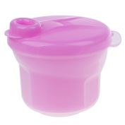 Sharplace BPA Free Powder Formula and Snack Cup Dispenser Portable Travel Container Bottle - Rose, as described