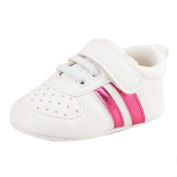 Honhui Toddler Baby Girls Boys Crib Shoes Leather Soft Sole Anti-Slip Prewalker Sneakers (11