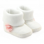 Glorrt Toddler Newborn Baby Girls Boys Flower Crib Boots Soft Sole Prewalker Warm Shoes