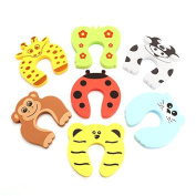 Finger Safe Door Stopper, ONEVER 5 PCS Colourful Animal Cartoon Baby Finger Pinch Guard
