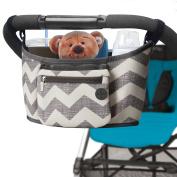 Premium Stroller Organiser with Two Multifunctional Stroller Hooks for Parents On the Go