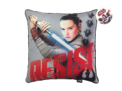 Star Wars Ep 8 Resist Grey/Red Plush Decorative Toss/Throw Pillow with Rey