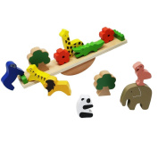 Lewo Wooden Animals Balancing Games Playset Toy Stacking Blocks for Toddlers