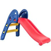 Costzon Kids Folding Slide, Plastic Play Slide Climber