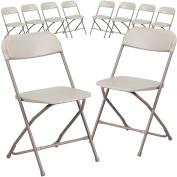 Flash Furniture 10 Pk. HERCULES Series 360kg. Capacity Premium Beige Plastic Folding Chair
