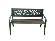 Terra Verde Home FDBH1503A1 Aluminium Wood Bench with Bird Nest Design, 120cm x 60cm x 80cm , Brown/Black