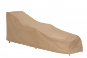 Protective Covers Weatherproof Wicker/Rattan Chaise Lounge Cover, Tan
