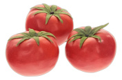 Set of 3 Flora Bunda 6.4cm X 8.9cm Tomato Replica Prop