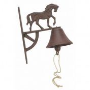 Cast Iron Horse Bell Wall Mount