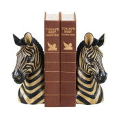 Sterling Home Pair of Zebra Bookends, 20cm Tall