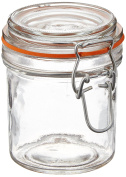 Anchor Hocking 280ml Mini Glass Jar with Hermes Clamp Top Lid, Set of 12