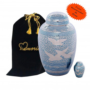 """Going Home Dome Top Cremation Urn """"Set"""" for Human Ashes by Memorials4u - Adult Funeral Urn Handcrafted - Affordable Urn for Ashes - Free Keepsake and Urn Bag"""