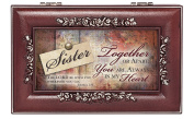 Sister in My Heart Rosewood Finish Jewellery Music Box - Plays You are My Sunshine