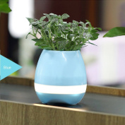 Smart Music Flowerpot Playing Piano on Real Plant Wireless Bluetooth Speaker Musical Box Planter Night Colourful light (Without Plant)