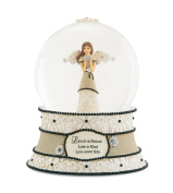Pavilion Gift Company Modeles 88065 100mm Musical Water Globe with Angel Figurine, Love, 6-Inch