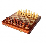 Crafts'man Chess Set Folding Magnetic Wooden Board Game 18cm