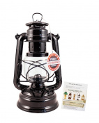 Feuerhand Hurricane Lantern - German Made Oil Lamp - 25cm with Care Pack