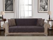 Chiara Rose Anti-slip Armless Sofa Shield Futon Couch Pet Cover Furniture Protector Diamond Chocolate Brown