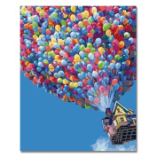 Rihe DIY Oil Painting Paint By Numbers Kits with Brushes Acrylics Painting Kits on Canvas for Adults Kids Beginner - Hot Air Balloon 41cm x 50cm