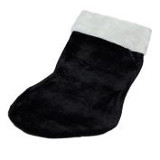 Classic Black Christmas Stocking