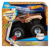Hot Wheels Monster Jam Rev Tredz Blue Thunder Vehicle
