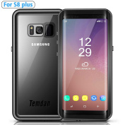 Temdan Galaxy S8 Plus Waterproof Case with Kickstand Built in Screen Protector Rugged Shockproof Transparent Cover Waterproof Case for Samsung S8 Plus (16cm )--BLACK