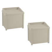Suncast 83.3l Outdoor Storage Resin Patio Deck Box with Seat, Taupe