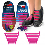 No Tie Shoelaces for Adults. Best Elastic Silicone Shoe Laces to Replace your Shoe Strings. Pimp your Shoes with Silicon Lock Laces by Diagonal One