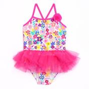 Op Toddler Girl Springtime Floral Tutu One-Piece Swimsuit