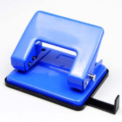 Vinmax Mini 2 Hole Puncher 2 Round Hole Manual Binding Tool Portable Paper Punch Machine for Office School Use Blue