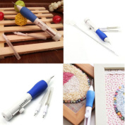 KINGSO Magic Embroidery Pen Embroidery Stitching Punch Needle Set Craft Tool Knitting Sewing Tool for Embroidery Threaders