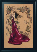 Lady of Mystery LINEN Beaded Counted Cross Stitch Kit by Nora Corbett Mirabilia Designs MD152 (Bundle