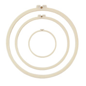 eGoodn 3 Pieces Embroidery Hoop Set ABS Plastic Cross Stitch Hoop Ivory-White 3 Sizes - 12cm 21cm 28cm , For Kids And Adults