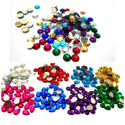 AM Colourful Kundan Stones Round And Drop Shape Combo For Jewellery Making