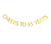 Betalala Large Gold Cheers to 85 Years Letters Banner Garland Bunting Sign Party Decoration Photo Props