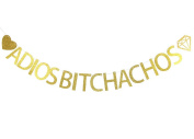 Betalala Large Gold Adios Bitch achos Letters Banner Garland Bunting Sign Party Decoration Photo Props