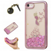 Laoke for Apple iPhone7 (12cm ) Protective TPU Silicone Case Cover Clear Gel Bumper Case + Anti Dust Plug