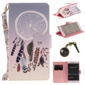 PU for P9 Lite Case Animals Landscape For P9 Lite Leather Cover Wallet Book Type PU Leather and TPU Inner Case Colourful Painting Magnetic Closure Leather Case Cover + Anti Dust Plug