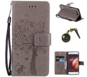 PU Leather Case with Stand/Card Slot for Huawei P10