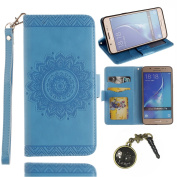 PU Leather Wallet Flip Case Cover for Samsung Galaxy J7 2016 PU and TPU Leather Phone Flip Case PU Leather Shell Case for Samsung Galaxy J7 2016 (J710) 14cm ) with Magnetic Closure Book-Style Protective Multi-Function Flip/Artificial Leather (+ Cr ..
